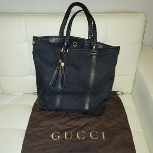Authentic Gucci canvas large tote bag